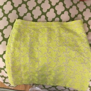 Jcrew neon pencil skirt